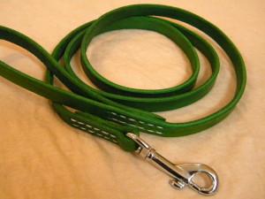 kožené vodítko zelené