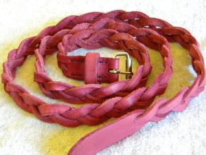 pletený kožený pásek
