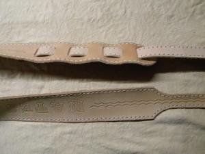 kožený popruh na banjo