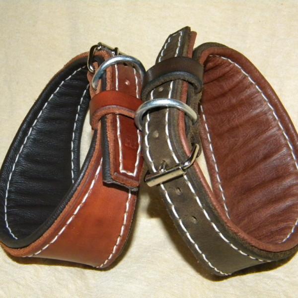 široké kožené obojky pro chrty